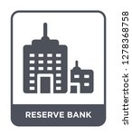reserve bank icon vector on...   Shutterstock .eps vector #1278368758