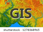 geographic information systems  ... | Shutterstock .eps vector #1278368965