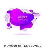 abstract  shape cloud splash... | Shutterstock .eps vector #1278369832