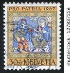 switzerland   circa 1967  stamp ... | Shutterstock . vector #127837226