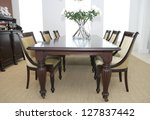 dining table and chairs   Shutterstock . vector #127837442