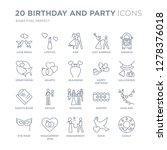 collection of 20 birthday and... | Shutterstock .eps vector #1278376018