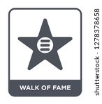 walk of fame icon vector on... | Shutterstock .eps vector #1278378658