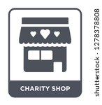 charity shop icon vector on... | Shutterstock .eps vector #1278378808