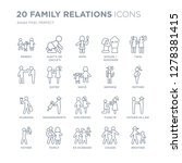 collection of 20 family... | Shutterstock .eps vector #1278381415