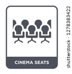 cinema seats icon vector on... | Shutterstock .eps vector #1278383422