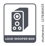 loud woofer box icon vector on... | Shutterstock .eps vector #1278383425