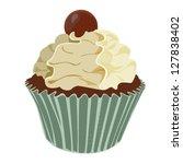 swirl cream cupcake | Shutterstock .eps vector #127838402