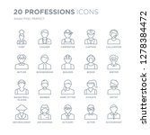 collection of 20 professions... | Shutterstock .eps vector #1278384472