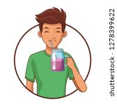 young man cartoon   Shutterstock .eps vector #1278399622