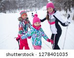 family with two children cross... | Shutterstock . vector #1278401035