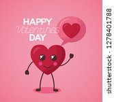 valentine day card | Shutterstock .eps vector #1278401788