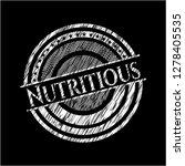 nutritious chalkboard emblem on ... | Shutterstock .eps vector #1278405535