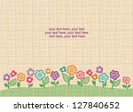 card with vector stylized... | Shutterstock .eps vector #127840652