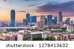 dallas  texas  usa skyline over ... | Shutterstock . vector #1278413632