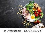 ketogenic low carbs diet  top... | Shutterstock . vector #1278421795