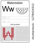 worksheet. writing a z ... | Shutterstock .eps vector #1278424312