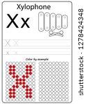 worksheet. writing a z ... | Shutterstock .eps vector #1278424348