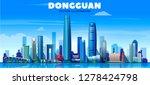 dongguan city   china   skyline ... | Shutterstock .eps vector #1278424798