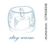 stay warm concept. sketch... | Shutterstock .eps vector #1278428248