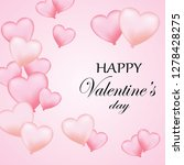 valentine's day banner with... | Shutterstock .eps vector #1278428275