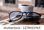 turkish coffee and a glass on... | Shutterstock . vector #1278431965