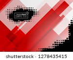 red contrast abstract... | Shutterstock .eps vector #1278435415