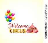 vector illustration of circus... | Shutterstock .eps vector #127844312