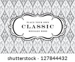 vector ornate frame and pattern.... | Shutterstock .eps vector #127844432