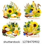 natural oil vector icons of... | Shutterstock .eps vector #1278470902