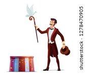 circus magician performing...   Shutterstock .eps vector #1278470905