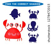 red crab find the correct...   Shutterstock .eps vector #1278472015
