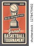 basketball sport game... | Shutterstock .eps vector #1278475402