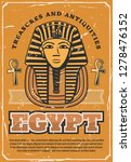 travel to egypt poster with... | Shutterstock .eps vector #1278476152