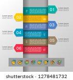 set of infographics elements.... | Shutterstock .eps vector #1278481732