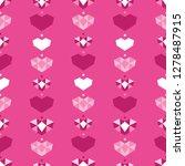 pink geometric hearts seamless...   Shutterstock .eps vector #1278487915