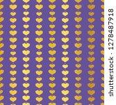 golden purple geometric hearts...   Shutterstock .eps vector #1278487918