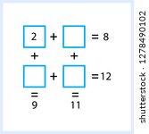 worksheet. mathematical puzzle...   Shutterstock .eps vector #1278490102