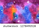 hand drawn watercolor space... | Shutterstock . vector #1278490528