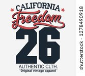 california freedom sport wear t ... | Shutterstock .eps vector #1278490918