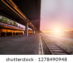 abandoned railway at sunset | Shutterstock . vector #1278490948