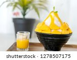 korean shaved milk ice topped... | Shutterstock . vector #1278507175