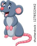 cartoon happy mouse | Shutterstock .eps vector #1278522442