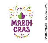 mardi gras lettering logotype ... | Shutterstock .eps vector #1278522898