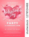 happy valentine's day party... | Shutterstock .eps vector #1278524488