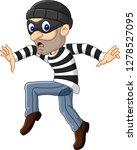 cartoon thief walking carefully | Shutterstock .eps vector #1278527095