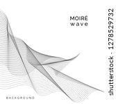 black moir  wave on white...   Shutterstock .eps vector #1278529732