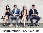 group of business sitting relax ... | Shutterstock . vector #1278535285