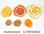 Dried Slices Of Various Citrus...