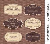 frame vintage set.borders... | Shutterstock .eps vector #1278543658